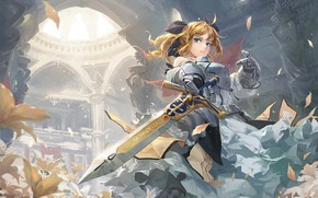 Picture girl, sword, art, Fate / Grand Order, The destiny of a great campaign