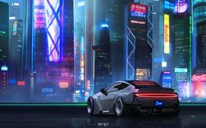 Wallpaper Auto, Night, The city, Neon, Machine, City, Art, Neon, Concept art, Concept Art, Cyberpunk 2077, ...