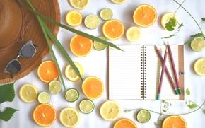 Picture design, fruit, food, vitamins, citrus, diet