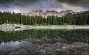 Picture beauty, reflection, mountains, nature, panorama, lake, forest, landscape