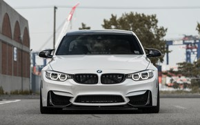 Picture BMW, Front, White, F80, Sight