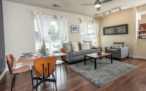 Picture interior, living room, dining room, small room