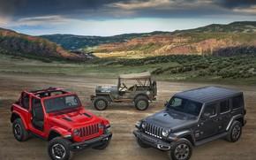 Picture 2018, 1944, Jeep, Willys, Wrangler Rubicon, Wrangler Sahara