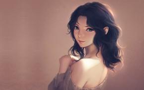 Picture girl, portrait, anime, art, Miura N315, Kaoru