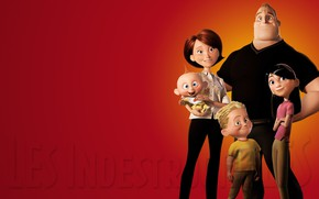 Picture background, family, The Incredibles, The incredibles