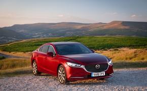 Picture Mazda, Mazda 6, red, 2018