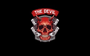 Picture Minimalism, Key, Skull, Style, Background, Engine, Art, Art, Devil, Style, Sake, Red Skull, Background, Minimalism, …