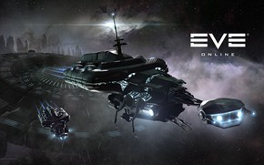 Picture nebula, planet, station, Space, space, ruins, spaceship, eve online, space ship, coooper