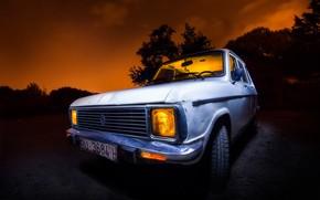 Picture machine, night, background