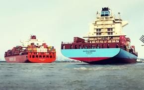 Picture Port, The ship, Two, Maersk, Maersk Line, Container ships, Maersk, Hamburg Süd, Container Ship, Hamburg …