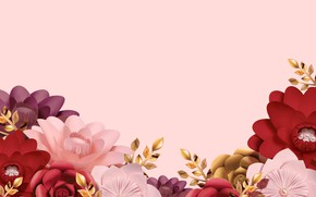 Picture flowers, background, pink, texture
