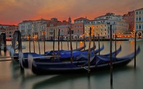 Picture lights, Italy, Venice, gondola
