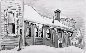 Picture 1918, Charles Ephraim Burchfield, Winter Twilight