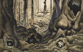 Picture Charles Ephraim Burchfield, The First Hepaticas, 1917-18