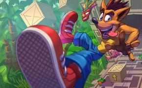 Picture Fox, Figure, The game, Crash, Art, Crash Bandicoot, Game Art, by Alan Campos, I I, …