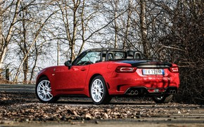 Picture back, Roadster, side, spider, Abarth, black and red, 124 Spider, 2019, Rally Tribute