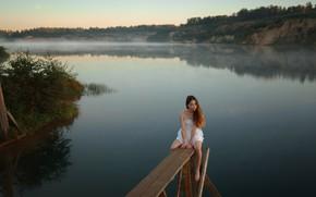 Picture girl, the river, Askhat Bardunov, Ksenia Chapkhaeva