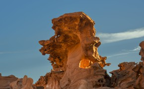 Picture the sky, rocks, USA, Nevada, Gold Butte National Monument