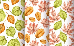 Picture background, texture, leaves, autumn, pattern, Seamless