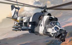 Picture attack helicopter, Modification of the Mi-24V, ATE, Mi-24 Super Hind Mk. III