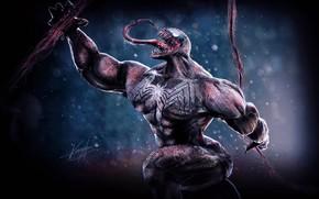 Picture language, saliva, spear, comics, Venom, Venom, symbiote, 3D graphics