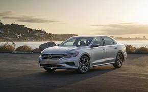 Picture Volkswagen, sedan, on the shore, Passat, 2020, 2019, US Version