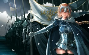 Picture girl, army, warriors, Fate / Grand Order, The destiny of a great campaign