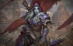 Picture World of Warcraft, Warcraft, Blizzard, Illustration, Eric Braddock, Characters, Sylvanas, Game Art, Dark Lady Sylvanas ...