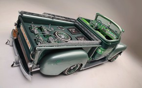 Picture Green, Chevy, Custom, 3100