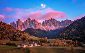 Picture mountains, home, Italy, Bolzano, The Dolomites