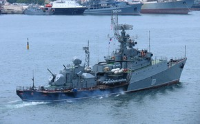 Picture ship, anti-submarine, small, suzdalets, project 1124m