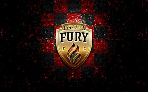 Picture wallpaper, sport, logo, football, glitter, checkered, USL, Ottawa Fury