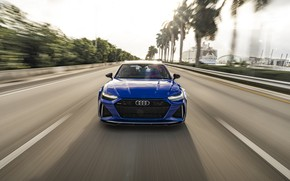 Picture Audi, Blue, Face, Before, RS6, Dynamic