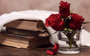 Picture books, roses, Bank