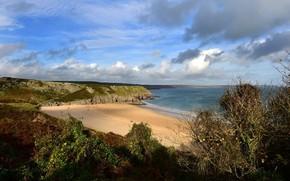 Picture sand, beach, landscape, nature, coast