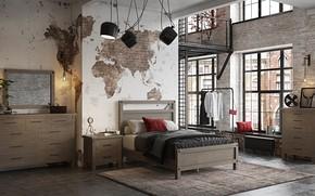 Picture design, room, interior, bedroom