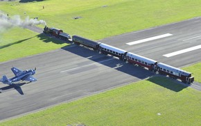 Picture The engine, New Zealand, Train, Grumman, Runway, Avenger, Navy, Air force fleet, The Gisborne Airport, ...