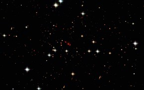 Picture Early Universe, Constellation Andromeda, Galaxy cluster, Red-shift, PSZ2 G138.61-10.84