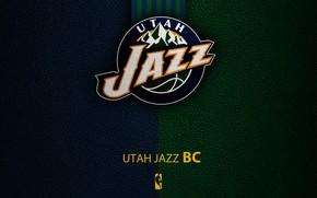 Picture wallpaper, sport, logo, basketball, NBA, Utah Jazz
