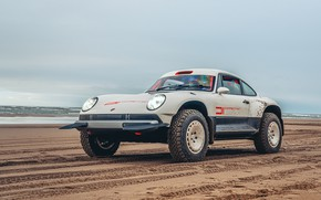 Picture sand, sea, 911, Porsche, Singer, acs, 2021, BF Goodrich, SCRS, All-terrain Competition Study