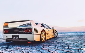 Picture Auto, The game, White, Machine, Ferrari, F40, Rendering, Sports car, The Crew, Ferrari F 40, …