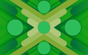 Picture circles, green, strip, background