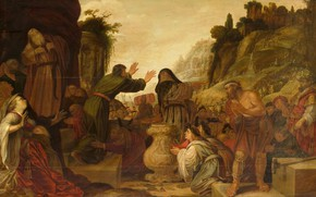 Picture oil, picture, mythology, 1628, Jacob Symonsz Pynas, Paul and Barnabas at Lystra, Jacob Simeon Pinas
