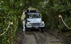 Picture greens, Land Rover, Defender, 2015