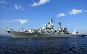 Picture cruiser, the project 1164, Marshal Ustinov, the Northern fleet