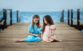 Picture children, girls, dress, Anastasia Barmina