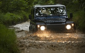 Picture Land Rover, Defender, ditch, 2013, Defender 90