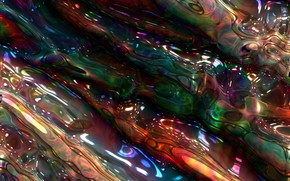 Picture line, abstraction, bubbles, Shine, colorful, rainbow, plasma, melting, diffusion, mixing, environment