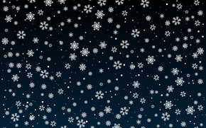 Picture winter, snow, snowflakes, the dark background, texture, Christmas, New year, snowfall, a lot, different