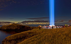 Picture Iceland, Reykjavik, Imagine Peace Tower, The international day of peace